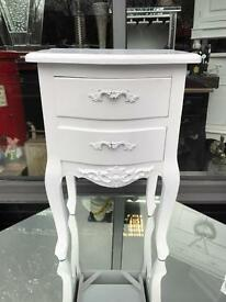 Shabby Chic Ornate Bedside Table