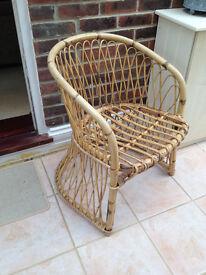 Cane Bucket Chair