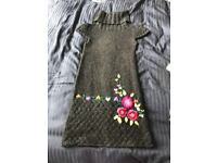 Gorgeous Desigual knit dress with beautiful embroidered flowers