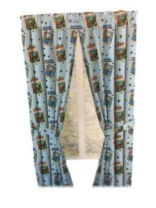Toy Story Drapes Kids Window Panel Curtains with Tie Backs (Sky Blue)