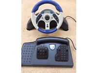 Racing Wheel & Pedals for PS1 & PS2