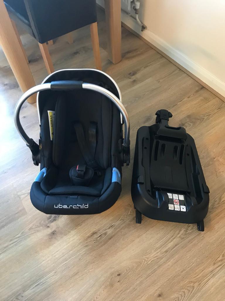 Uber Child Baby Car Seat And Isofix Base