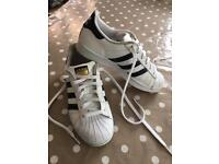 Adidas Superstars size 4 (UK)