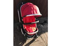 Icandy Peach Tomato Red Pram Stroller Travel System