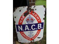 Large .N.A.C.B Enamel sign