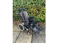 POWERED TILT IN SPACE WHEELCHAIR Invacare 17 x 18.5 Inch Attendant Pushed AZALEA
