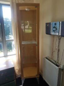 Light up glass cabinet for sale no marks on it great condition
