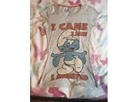 Smurf tshirt size 8