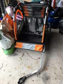 Halfords Double seat bike buggy