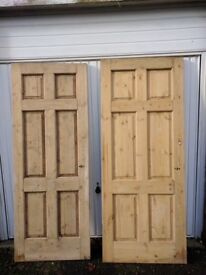 Stripped solid wood doors