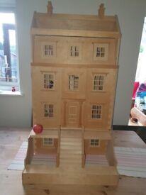 ELC dolls wooden mansion house
