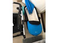 Silver cross wayfarer travel system (grey and blue colour pack) - pram, pushchair, car seat