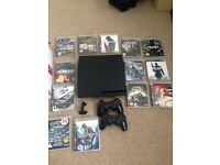 160gb PS3 with 14 games, 2 pads and Bluetooth headset
