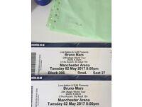 Bruno mars tickets Manchester x2