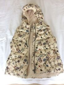 Mango girls floral gilet brand new never worn