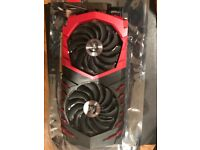 MSI NVIDIA GeForce GTX 1070 8GB Gaming X Graphics Card Used Once