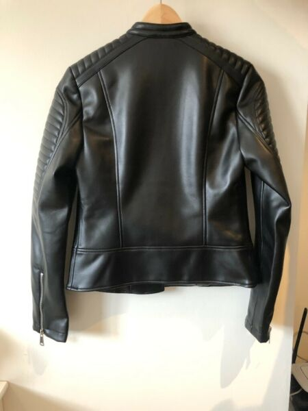 ZARA Jacket (Brand new) XS Faux Leather Biker Woman for sale  Banbury, Oxfordshire