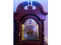 mahogany grandfather clock