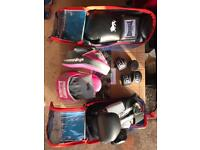 New boxing gloves full set with training pads