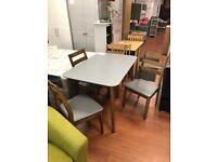 BRAND NEW GREY /WALNUT TABLE +CHAIRS £199