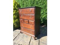 STAG minstrel TALLBOY chest of drawers 7 DRAWER vintage retro MAHOGANY