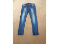 Sparkly Embellished Blue Jeans, size10