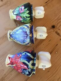 Beautiful China Flower Light Fittings - Mint Condition