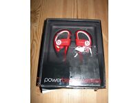 Beats by Dr Dre Powerbeats 2 Wireless Bluetooth ear-hook Headphones Red BNIP sealed