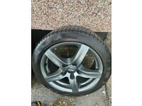 Rims and continental winter contact tyres almost brand new