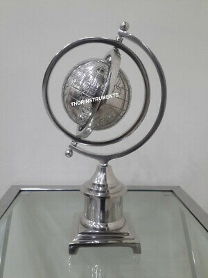 Nautical Chrome Finish World Globe Home Decorative Item