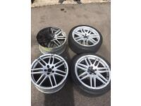 Rs4 replica alloys5x100(golf seat Audi)