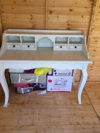 Cream desk and stool not cheap wood solid