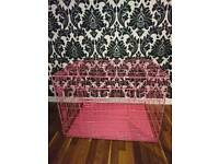 New Condition Large pink dog cage