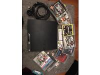 PS3 Slim Console + 13 Games + 1 Controller, good condition, Low Price for quick sale!