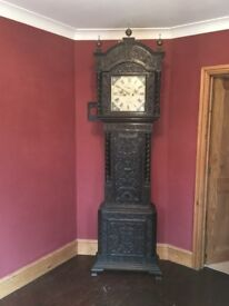 1 x 8 Day Antique Grandfather Clock