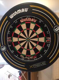 Portable dart board and surround