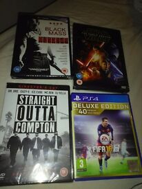 Dvds and game for sale