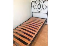 Laura Ashley Somerset dove grey single bed in vgc