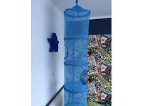 FANGST Kids Toy Storage IKEA 6 Compartment Net Hanging Storage Bedroom Organizer