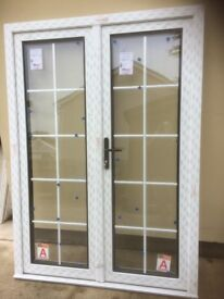New White PVC French Doors,