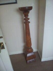 Huge wooden plinth