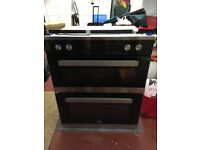 Beko Built-under Electric Double Oven - 2 Years Old, very good condition