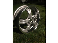 "Deep dish Alloy wheels 17"" inch Citroen AX Berlingo C2 C3 Picasso C4 DS3 DS4 DS5 saxo alloys wheel"