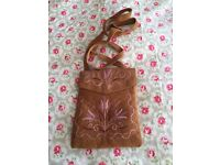 Suede Cross body small handbag/ purse
