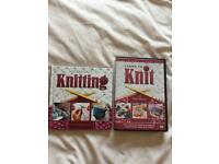 Learn to knit book and dvd