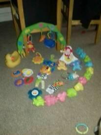 Hanging baby toys rattles lamaze pram toy cot mobile