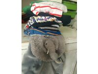 Boys clothes bundle age 4-5 years and elephant back pack