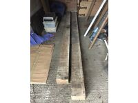 Solid oak beams