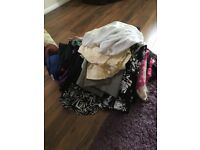 Due to weight loss and house move. Three whole wardrobes in sizes 14, 16 and 18. All new/nearly