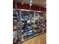 High Quality Glass Display Cabinet - 1000mm (w) - 12 LED lights - Locks
